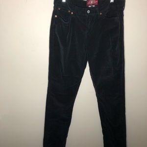Lucky brand Zoe skinny dark grey corduroy jeans